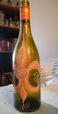Fleur De Lis bottle I painted for a friend...