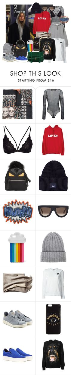 """""""Yo, whats up?"""" by bianca-gasparetti ❤ liked on Polyvore featuring Zadig & Voltaire, Faith Connexion, Fendi, Acne Studios, Anya Hindmarch, CÉLINE, STELLA McCARTNEY, The Elder Statesman, Comme des Garçons and adidas Originals"""