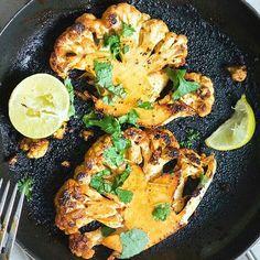 Spice up your versatile cauliflower with this Spicy Lime Cauliflower Steak recipe