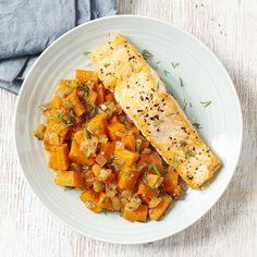 Saumon rôti, carottes à l'orange - illico Fresco