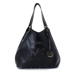 2443dccdab77 Find Michael Kors Large Perforated-Logo Grab Bag Black For Fall online or  in pumacreepers. Shop Top Brands and the latest styles Michael Kors Large  ...