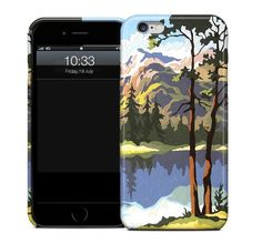Cartolina iPhone case - Mountains iPhone 5/5s and iPhone 6 - Made in Canada – Spruce Collective
