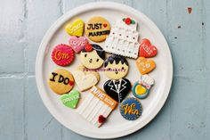 Wedding Cookies k'Win k'OM Fondant Cookies