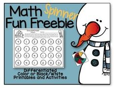 Spinner Math Freebie For January-Differentiated and Aligned1