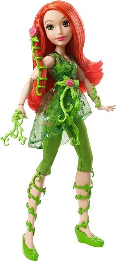 Check out the DC Super Hero Girls™ Poison Ivy™ Action Doll at the official Mattel Shop website. Explore the world of DC Super Hero Girls today! Batgirl, Supergirl, Poison Ivy Costumes, Super Hero High, Dc Super Hero Girls, Barbie 80s, Barbie Dolls, Barbie Model, Dolls Dolls