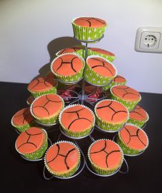 Basketbal cupcakes, juni 2015