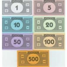 Our Monopoly Walkway Set Features Eight Cardboard Money Cutouts That