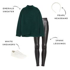 This One Accessory Can Take Your Outfits From Casual to Totally Cute Basic Outfits, Casual Outfits, Cute Outfits, Fashion Outfits, Mom Outfits, Fall Winter Outfits, Autumn Winter Fashion, Marchesa, Leather Leggings Look