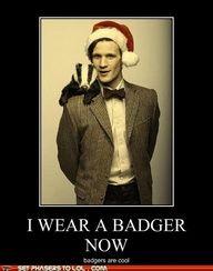 go badger! Dr. Who, Hufflepuff, Matt Smith, Harry Potter