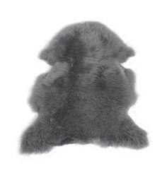 Lammskinn - ljusgrått långhårigt