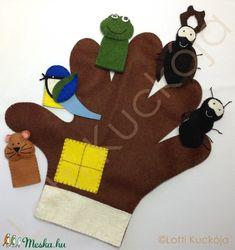 Kesztyű mese ujjbábkészlet (Lottikuckoja) - Meska.hu Diy, Manualidades, Projects, Bricolage, Do It Yourself, Homemade, Diys, Crafting