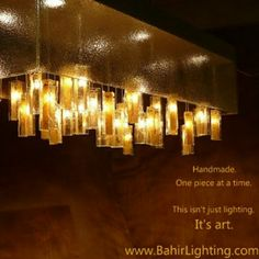 Gold Mountain with light Drops chandelier. www.bahirlighting.com
