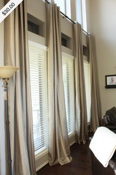 Need to remember this website (curtain).actually decent prices for curtains! Long Living Room Curtains for under interior decorating before and after design Style At Home, Design Case, Great Rooms, Home And Living, Small Living, Cozy Living, Home Projects, Living Room Decor, Living Rooms