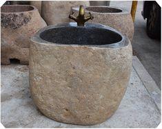 天然鹅卵石头拖布池 仿古拖把桶庭院拖布池户外阳台墩布池水盆-淘宝网