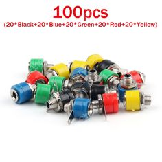 Venta 100 Unids 4mm Enchufe Tipo Banana De Binding Post Banana Plug Conector