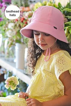 cd2a94bea2b UPF 50+ kids bucket sun hat with chin strap in baby pink  bedheadhats