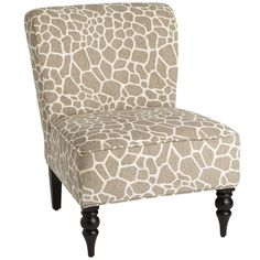 Need extra seating but short on space? Consider a classic slipper chair like Addyson. Armless for roominess, upholstered for comfort and designed to sit lower to the ground, it's a space-saving lifesaver. And with its fun animal-print fabric and dark hardwood frame, it not only speaks to you, it speaks pretty well of you, too.