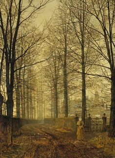Three Hundred Years Ago, 1892, John Atkinson Grimshaw. English (1836 –1893)