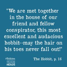 {audacious} #quote from #TheHobbit #Tolkien | Hobbit Dictionary Definitions | gimmesomereads.com