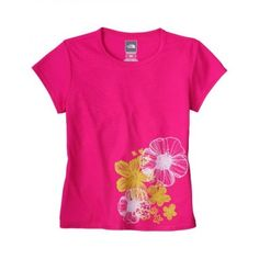 THE NORTH FACE Girl's S/S Vaporwick Fleeing Flowers Tee
