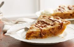 Sweet apple pie made with HERSHEY'S Cinnamon Chips. Sounds delicious!