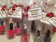 Teacher appreciation gifts for daycare teachers.  Nail polish and nail file.
