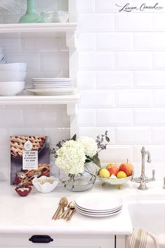 Lauren Conrad's All White kitchen