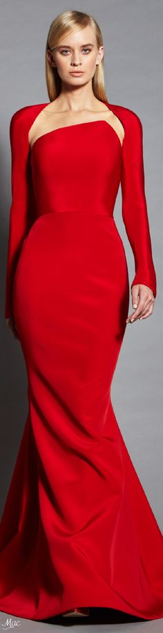 Spring 2017 Ready-to-Wear Romona Keveza Red Fashion, High Fashion, Mode Glamour, Fuchsia, Mode Style, Beautiful Gowns, Pretty Dresses, Dress To Impress, Ball Gowns