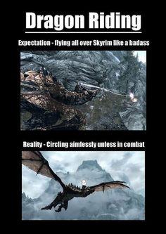 Riding Dragons is Just Fun #Skyrim Logic