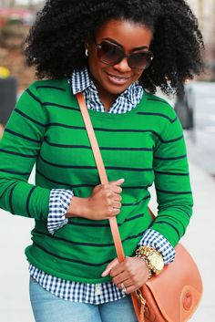 The Serena Saga: Outfit: Navy Gingham and Stripes