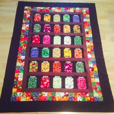 Jar Quilt made with lots of fruits and vegetable fabric. One of my favorite…
