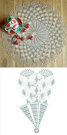 Crochet Doily Rug, Free Crochet Doily Patterns, Crochet Dollies, Filet Crochet Charts, Crochet Motifs, Crochet Circles, Crochet Tablecloth, Crochet Diagram, Crochet Squares