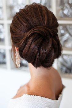 pinterest wedding hairstyles elegant swept chignon tonyastylist