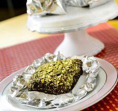 Bolo Gelado de Pistache e Chocolate