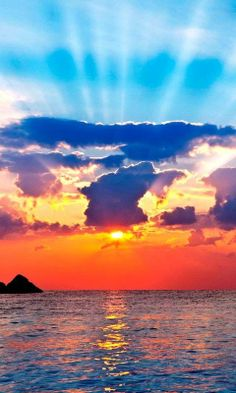 Morning at the seaside Equador - check out the sunrays! All Nature, Amazing Nature, Science Nature, Beautiful World, Beautiful Places, Equador, Landscape Wallpaper, Beautiful Sunrise, Sun Moon