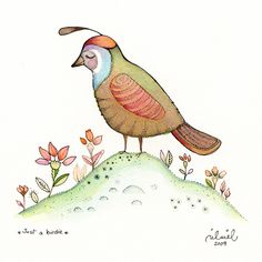 https://flic.kr/p/6EEZaW   Just a birdie   I did this illustration while I was in Halifax. I called it *Just a birdie* Water color, pen and pencil