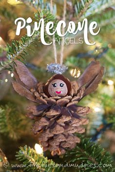 Pinecone Angels: A Christmas Nature Craft for Kids
