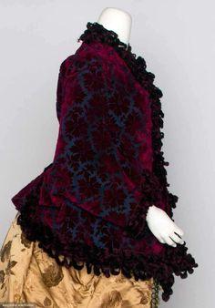 Dolman Jacket (image 2) | 1880s | cut velvet, chenille, satin | Augusta Auctions | November 13, 2013/Lot 122