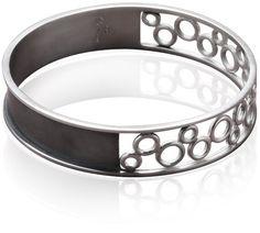 Kiss the Rain Bracelet - $100 by Alida Joyas  Sublime oxidized and polished sterling silver bracelet. Width: 1.6 cm. Diameter (inside): 6.4 cm