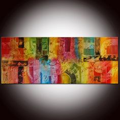 SALE  Large Contemporary Original Abstract  Painting by by andrada, $299.00