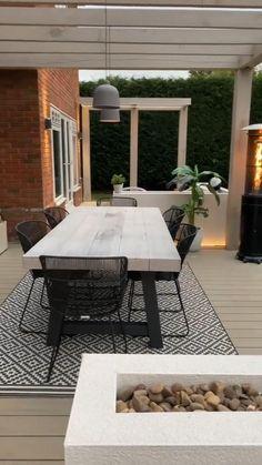 Outdoor Dining Set, Outdoor Living, Outdoor Furniture Sets, Garden Dining Set, Back Garden Design, Modern Garden Design, Back Garden Ideas, Backyard Patio Designs, Diy Patio