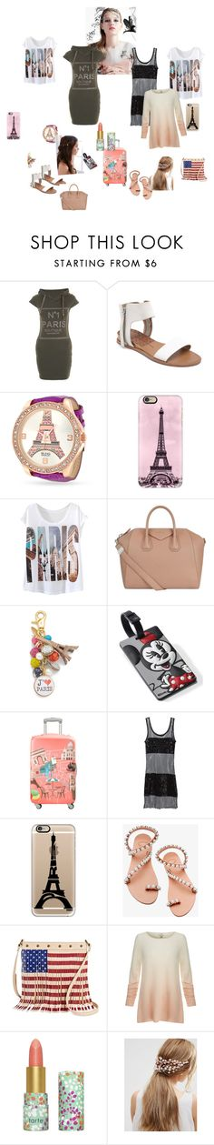 """go to trip Paris"" by baby-sweet971 on Polyvore featuring Dolce Vita, Bling Jewelry, Casetify, Givenchy, Lenora Dame, American Tourister, LOQI, Jean-Paul Gaultier, Elina Linardaki and TWIG & ARROW"