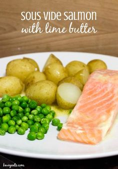 Sous Vide Salmon with Lime Butter | Kavey Eats