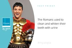 That couldn't of been very hygienic #randomfacts #myutopia