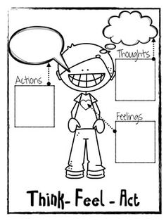 Think Feel Act Worksheets Counseling Activities Cbt Cbt Worksheets, Counseling Worksheets, Therapy Worksheets, Counseling Activities, Anger Management Activities, Therapy Activities, Elementary School Counseling, School Social Work, Coping Skills