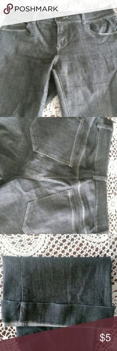 Jeans Thin dark Jean material with cuff at bottom of legs mixit Jeans Flare & Wide Leg