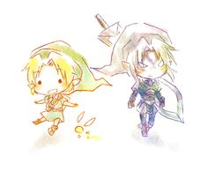The Legend of Zelda: Majora's Mask / Young Link, Tatl, and Fierce Deity