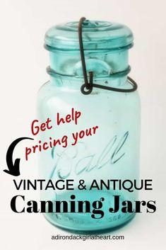 Antique Bottles, Vintage Bottles, Bottles And Jars, Vintage Glassware, Glass Jars, Ball Canning Jars, Ball Jars, Vintage Mason Jars, Blue Mason Jars