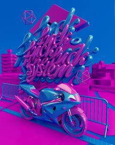 Fuck The System   2012 by Dmitry Rockstar, via Behance