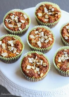 These Pumpkin Apple Muffins are a healthy breakfast treat that's full of fall flavor. This easy recipe is gluten free, refined sugar free, and vegan.